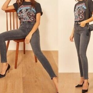 🌺Reformation highwaisted dark gray jeans